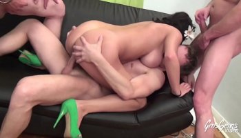 Sexy secretary with glasses riding her strict boss