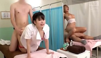 Hot japanese girl like to be fucked while other watching