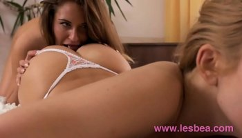 lesbian school girl plays with her horny teacher