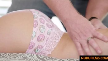drunk black stepdad drills his white stepdaughter on sofa