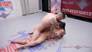 Slave and her mistress. Foot licking